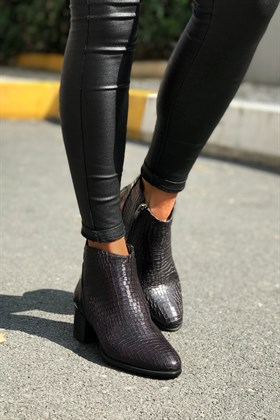 Siyah Ankle Bootie - DALLAS