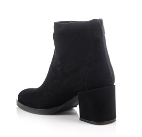 Siyah Suede Ankle Bootie - NORA